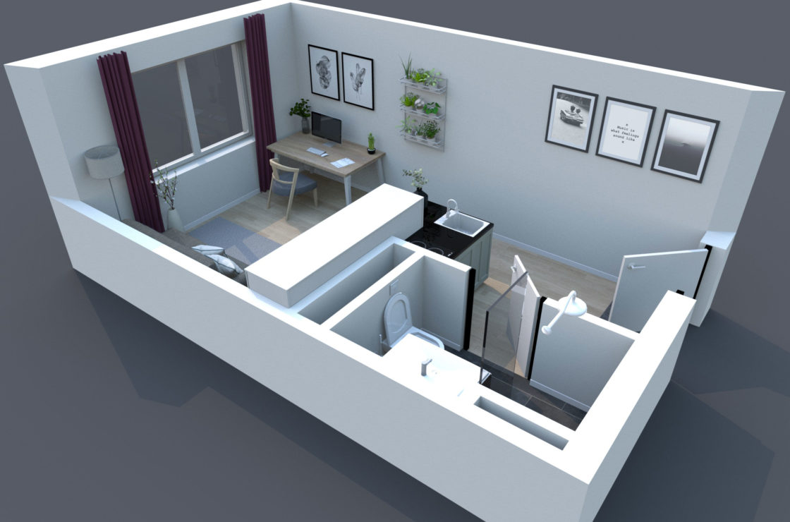 3D Grundriss Standardapartment